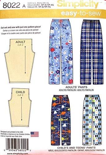 Simplicity E 8022 Del Cartamodello Bambini Pantaloni Per Adulti SjLUqVGzMp