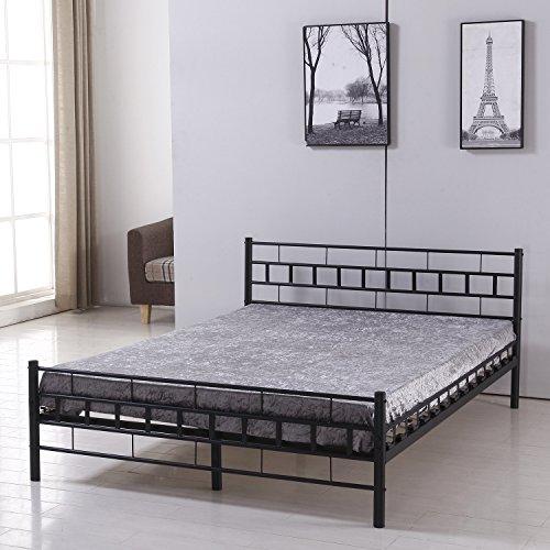 Bestmart INC Queen Size Metal Double Platform Bed Frame/Easy Set-up Platform Bed