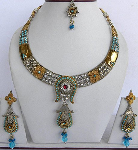 Sunrise Exporters Indian Designer Bridal Necklace With Earring And ()