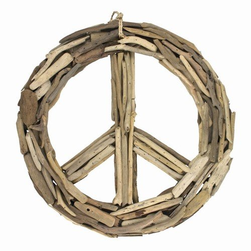 World Buyers Driftwood Peace Sign Medium 15.5