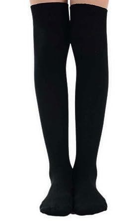 1395af337 Girls Plain Knee High School Uniform Socks in 8 Colours - UK Sizes   Amazon.co.uk  Clothing