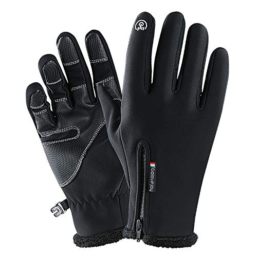 Autumn and Winter Outdoor Gloves Keep Warm high Density Waterproof Fabric PU Material wear-Resistant Anti-Slip Gloves