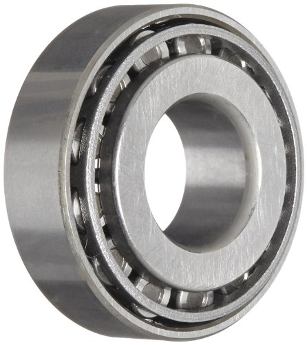 NSK 30202 Tapered Roller Bearing, Standard Capacity, Pressed Steel Cage, Metric, 15mm Bore, 35mm OD, 11.75mm Width, 11 mm Cone Width, 10 mm Cup Width, 11000rpm Maximum Rotational Speed, 13200N Static Load Capacity, 14800N Dynamic Load Capacity