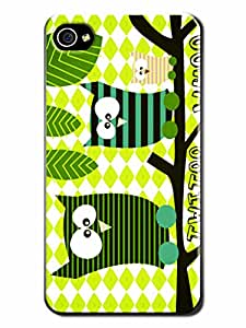 Sammicase Case Cover Expert Selected Innocent Animal Hard Case for Iphone 4/4S(Good Friends)
