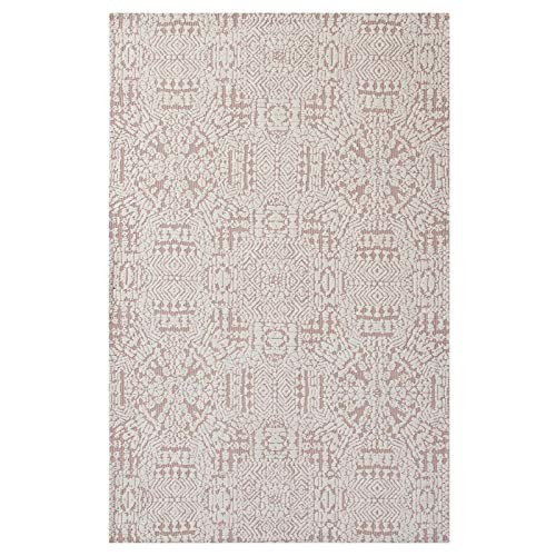 Rose Cameo Rug - Modway Javiera Contemporary Moroccan 5x8 Area Rug In Ivory and Cameo Rose