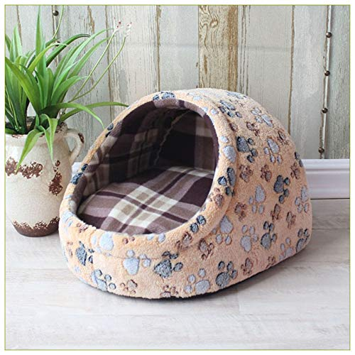 Flyingpets Dog Pillow Bed - Dog Bed Pillow - Large Dog Bed Pillow - Pet Bed Dog House Kennel Puppy Cat Litter Bed Home Shape Nest Sofa Indoor Small Dogs Cats Cushion Removable Pillow Chihuahua Mat. by Flyingpets (Image #4)