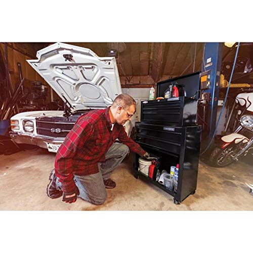CRAFTSMAN 5-Drawer Ball-Bearing Steel Tool Chest Combo (Black) 1000 Series 26-in W x 44-in H by Craftsman (Image #8)