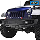 jeep wrangler blue grill inserts - 07-18 Jeep Wrangler JK Grille Angry Bird Look ABS Full Replacement Grill Blue W/O Grille Insert