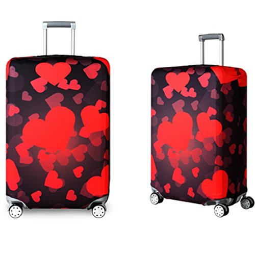 Bestja Washable Travel Luggage Cover Elastic Suitcase Trolley Protector Cover for 18-32 Inch Luggage (Love, S) by Bestja (Image #1)