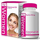 Extra Virgin Coconut Oil for Women - 100% Organic, Cold Pressed Coconut Oil from Non-GMO Coconuts, Unrefined and Rich in MCFA & MCT, Made in USA - 60 Softgels