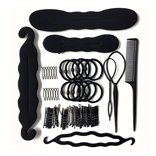11 Pcs Hair Braid Tool Hair Styling Accessories Kit Set Bun Maker - Hair Styling Accessories Kit Set for DIY for Styling Accessories for Girls or Women