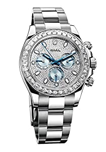Rolex Women's 116576  Daytona Platinum  Diamond Bezel Diamond Pave Dial Watch