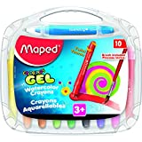 Maped Color'Peps Gel Watercolor Crayons with Brush, Pack of 10 (836345)
