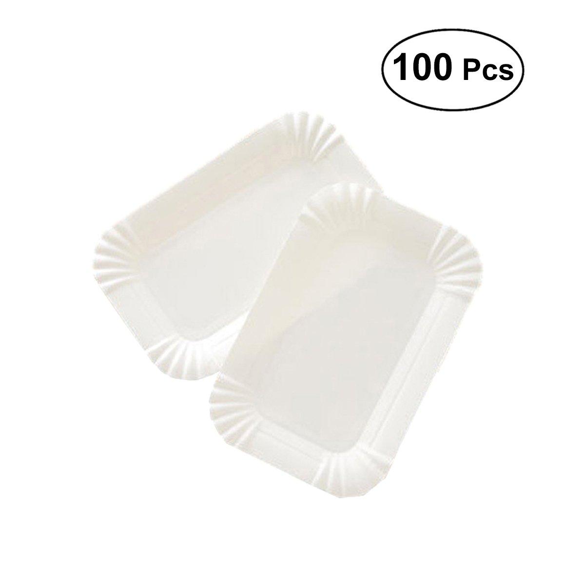 Bestonzon usa e getta carta piatto per torta di compleanno piatti da dessert portaposate 100pcs