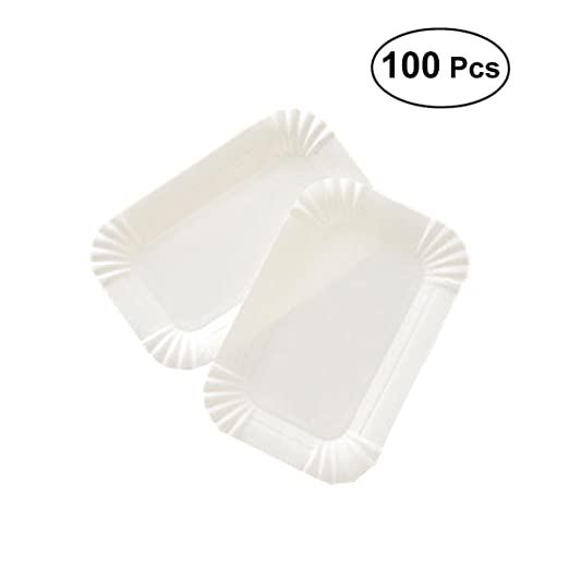 Bandeja de papel desechable BESTONZON para tartas, platos de ...