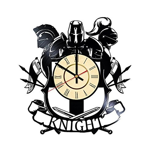 Fun Door Knight Armor Vinyl Record Wall Clock - Get unique living room wall decor - Gift ideas for men, boys and boyfriend – Unique History Art Design