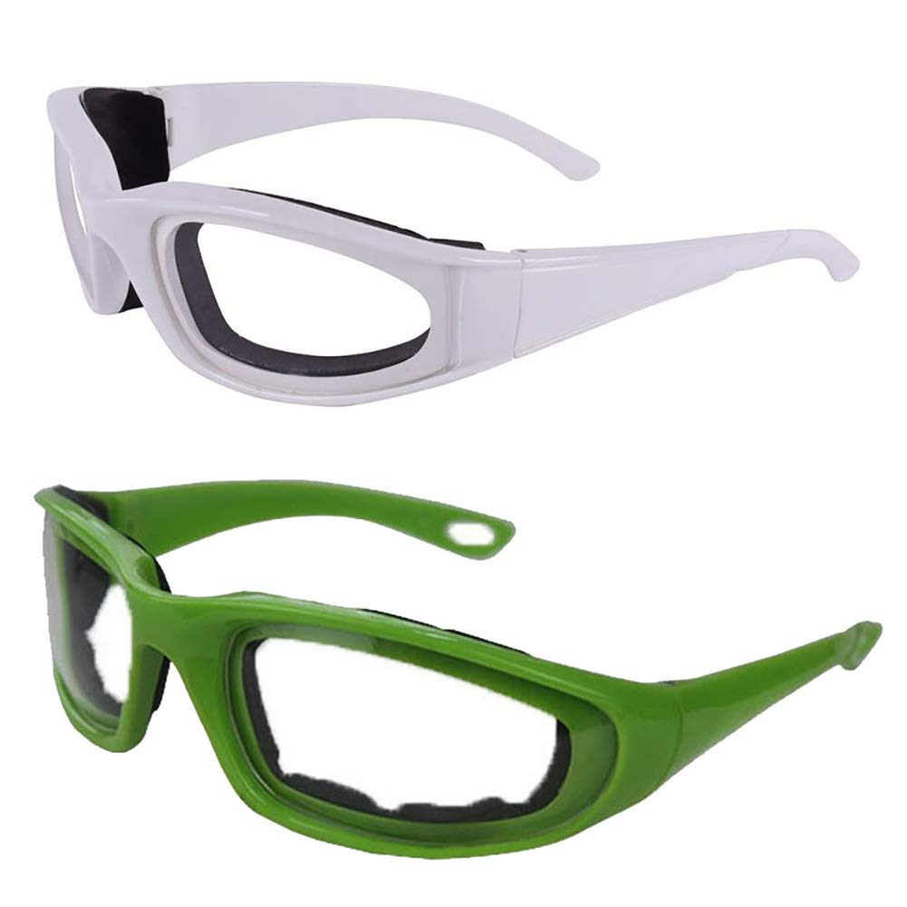 eroute66 Tears Free Onion Goggles Glasses Built In Sponge Kitchen Slicing Eye Protect Green by eroute66 (Image #3)