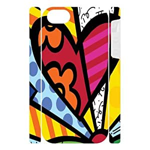 Canting_Good Romero Britto colorful art Custom Dual-Protective 3D Polymer Case Shell Skin for IPhone 5