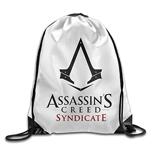 Creative Design Assassins Creed Syndicate Logo Drawstring Backpack Sport Bag For Men And Women