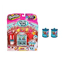 Shopkins Candy Collection Gift Set: Season 4 Food Fair Candy Collection Playset & TWO Food Fair 2-Packs in *Exclusive* Candy Containers