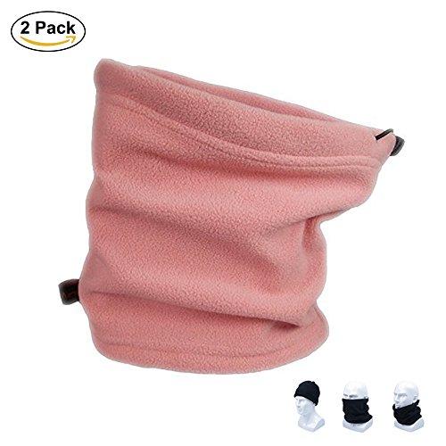 usar en con tubo el unidades polar forma Oufly polaina para bufanda para aire de invierno para 2 cálido forro Cuello paquete polar con como libre gorro para deportes estar Rosa cuello unisex al 0Opaxwq
