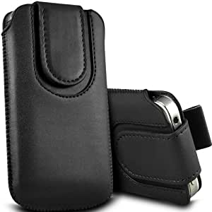 N E Fing Black PU leather magnet button pull tab case for Nokia E52(s)
