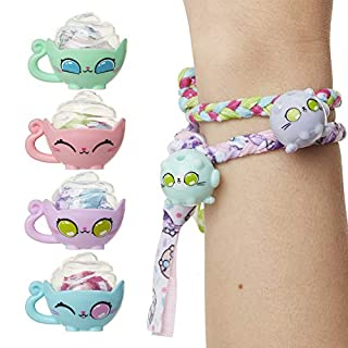 Kitten Catfé Meowble Yarn Ball Bracelet 4 Pack, Cat Ball Charms & Clasps Hidden in A Ball of Yarn to Create Your Own Friendship Bracelets with Charms! 24 to Collect in Series #1