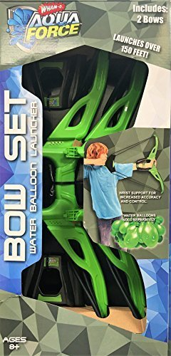 Whamo Aqua Force Bow Set - Water Balloon Launcher 2 Bows by Wham-O