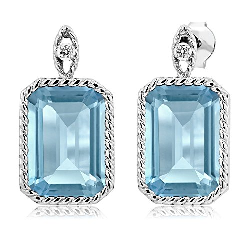 Diamond 925 Sterling Silver Earrings - 4