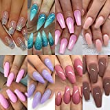 Modelones Gel Nail Polish Starter Kit Poly Nail Gel Kit with UV led light, Soft Warm Bright Color Series Colors for French Nail Essentials Manicure Nail Art Decorations,Christmas nail gifts for women