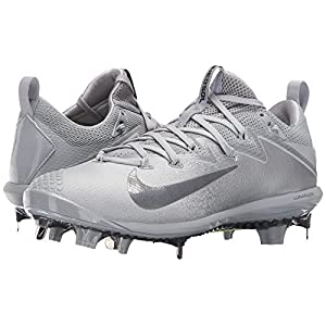 NIKE Men's Lunar Vapor Ultrafly Elite Baseball Cleat (11 D(M) US, Wolf Grey/Metallic Dark Grey)