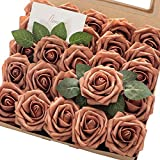 Floroom Artificial Flowers 25pcs Real Looking Burnt