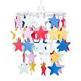 Children's Bedroom/Nursery Multi Coloured Stars Ceiling Pendant Light Shade
