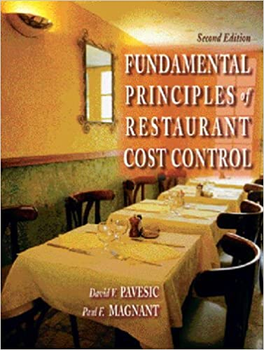 Fundamental Principles Of Restaurant Cost Control Nd Edition - Restaurant table cost