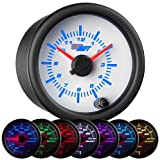 GlowShift White 7 Color Clock Gauge by GlowShift
