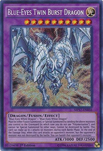 Yu-Gi-Oh! Blue-Eyes Twin Burst Dragon - MP17-EN056 - Secret Rare - 1st Edition - 2017 Mega-Tin Mega Pack (1st - Secret Rare Dragon Card