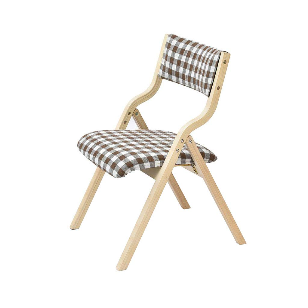 Solid Wood Folding Chair Dining Chair Fabric Modern Household Restaurant Lounge Chair