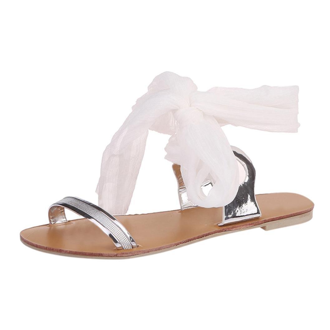 Femmes Bohême Sandales à Talon Plate Femmes Printemps été Tongs Femmes Chaussures de Plage Ballerine Escarpin Chaussures de Sport Sandales en Cuir GongzhuMM