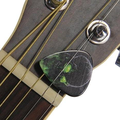 fitTek® 10 x Púa Pick para Guitarra Acústica Eléctrica Cráneo Punk: Amazon.es: Instrumentos musicales