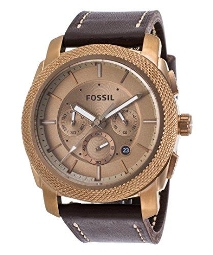 Machine Mens Watch - Gold-Tone Dial - Fossil FS5075