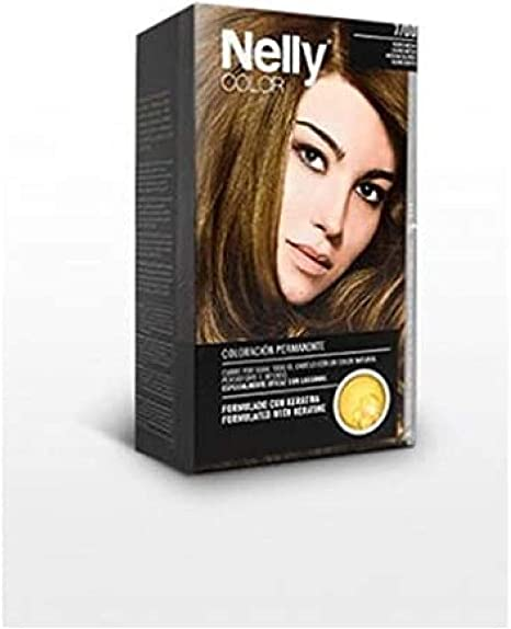NELLY Tinte N.7 Rubio Medio, Negro, Estándar: Amazon.es: Hogar