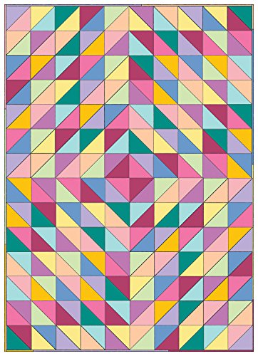 (Connecting Threads Beginner Quilt Kit - Half-Square Triangle Fun (Rainbow))