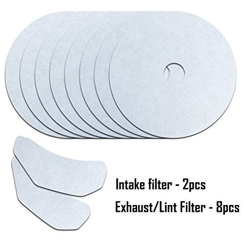 CTT 10Pack Universal Cloth Dryer Exhaust Filter Set Replacement for Panda/Magic Chef/Sonya/Avant ()