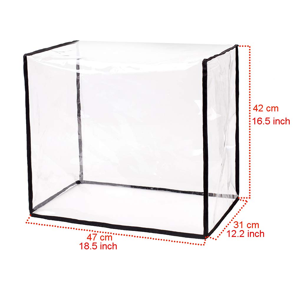 """Transparent Kitchen Broiler Appliance Organizer Bag 2 Slice Bread Toaster Oven Dustproof Cover Home Kitchen Accessories Up to 18.5/""""L and 16.5/""""H HZC259 HANSHI Bread Maker Covers"""