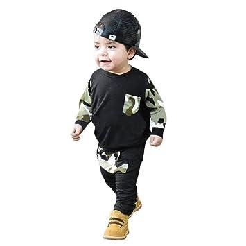 bdf80e1241718d 男の子 ベビー服 Karchi 2点セット 黒 カモフラージュ 上衣+パンツ かっこいい ベビー服 プレゼント 子供服