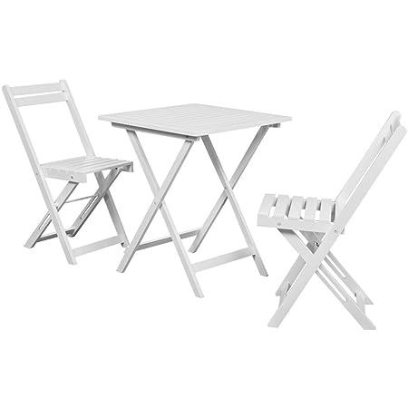 vidaxl 3 piece outdoor garden patio furniture bistro table and rh amazon co uk Indoor Bistro Table and Chairs French Bistro Table and Chairs