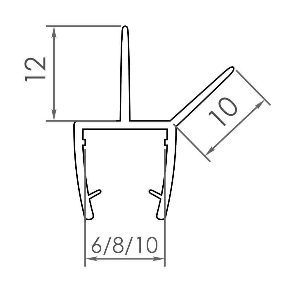 GLASDICHTUNG VA006 8 MM GLAS L/ÄNGE 100cm Dichtung Duschdichtung Ersatzdichtung