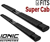 Ionic Voyager Plus Black Running Boards (Fits) 1999-2016 Ford Super Duty F250 F350 SuperCab
