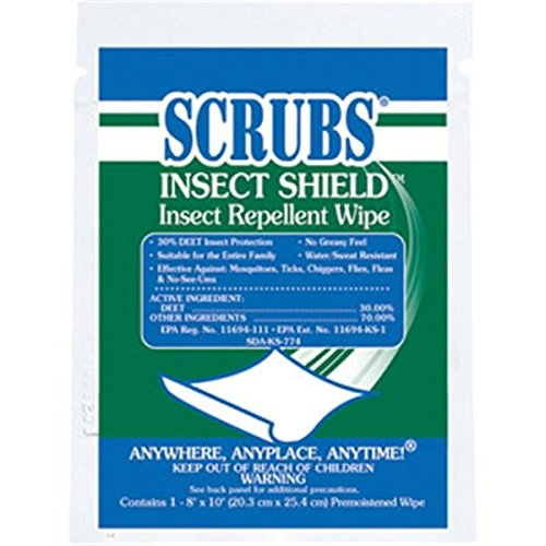 Scrubs Insect Shield Insect Repellent Wipes (2 Pack)