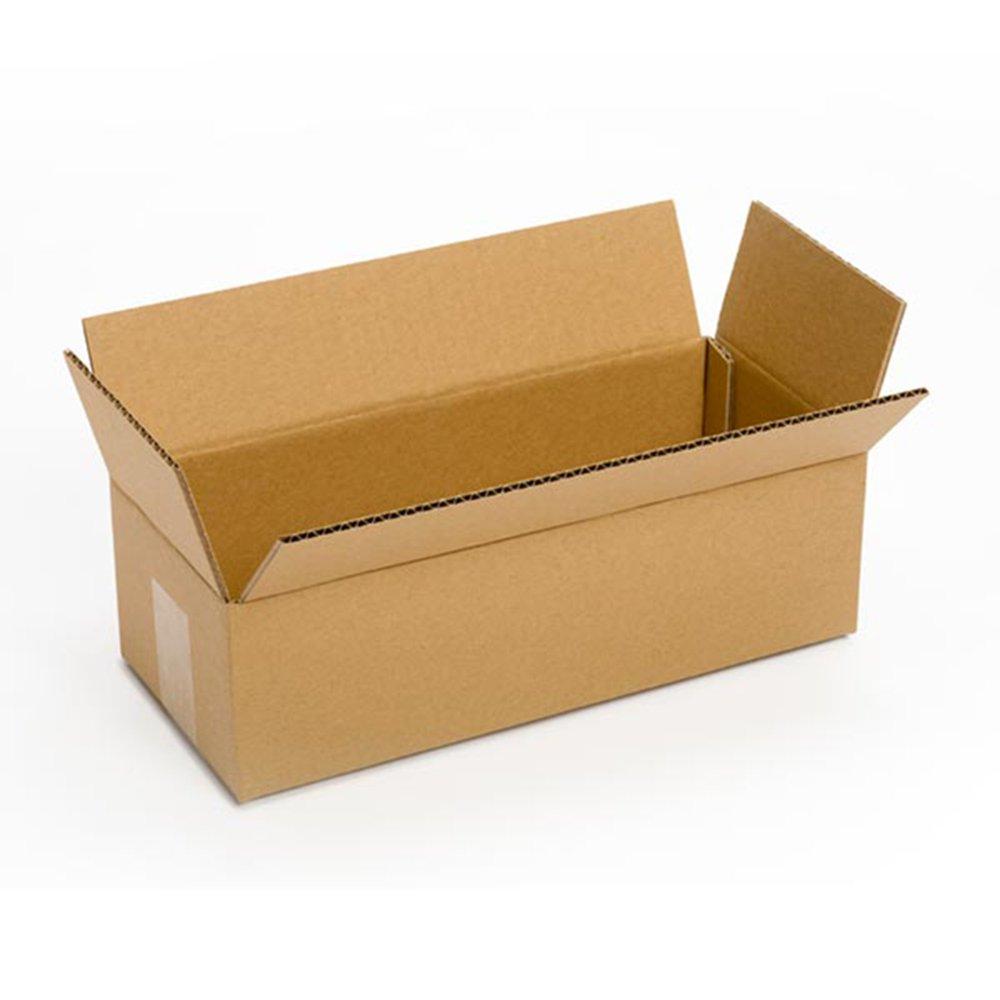 PRATT pra0072 reciclado único pared estándar de largo de cartón corrugado caja con C flauta, 14 cm de largo x 6